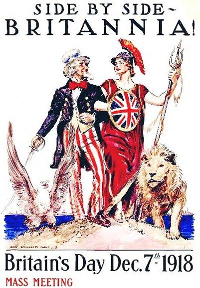 Britannia and Uncle Sam 1918