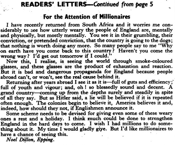 Letter on English morale - PicPost mar 1947